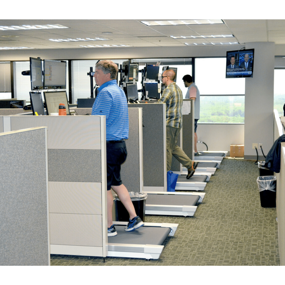 Unsit Treadmills in Multi Bank Offices