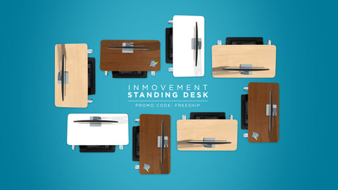 InMovement Standing Desks from above