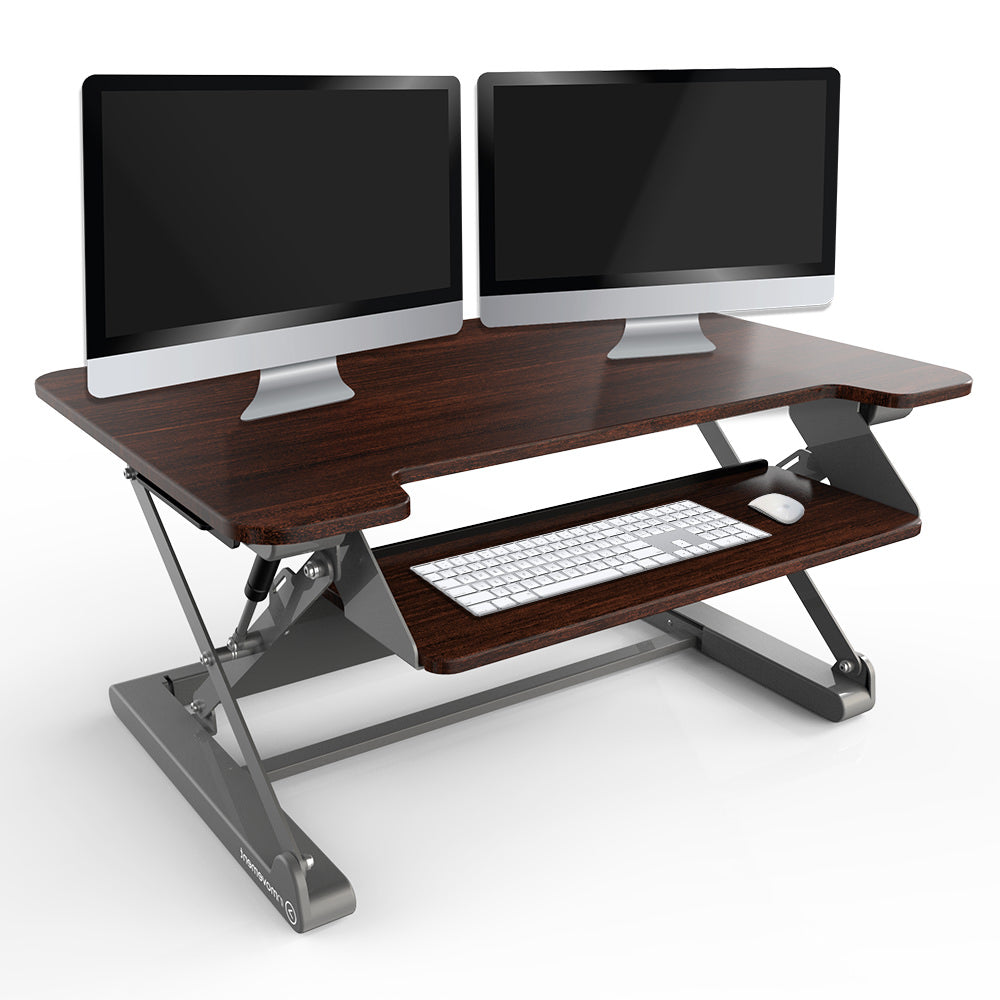 InMovement Standing Desk Pro DT20 with monitors and keyboard