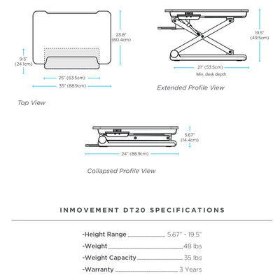 InMovement Standing Desk Pro DT20