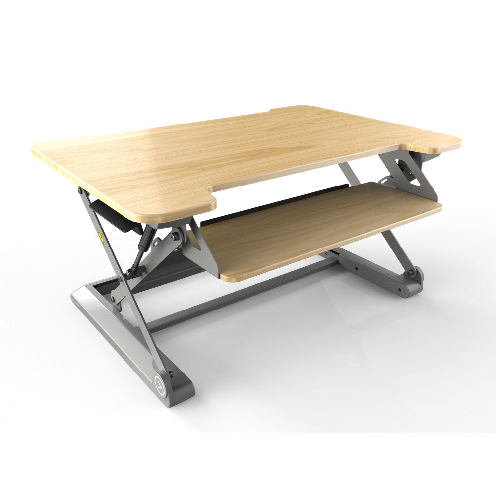 InMovement Standing Desk Pro DT20 facing right maple color