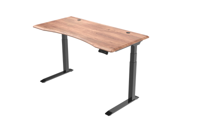 InMovement Unsit Standing Desk 60x30 - black frame - teak top