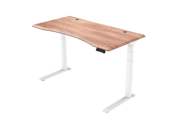InMovement Unsit Standing Desk 48x30 - white frame - teak top
