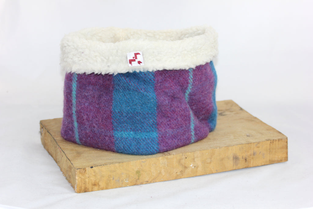 Berry Tweed Neck Warmer