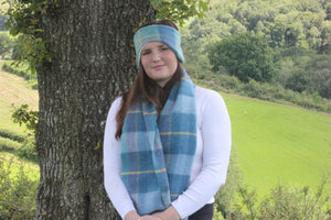 Blue Headband and Scarf