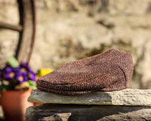 Herringbone Tweed Cap