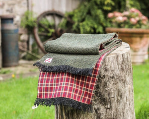 Chepstow Scarf with Red Check Lining