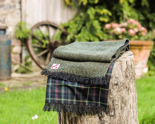 Chepstow Scarf with green check