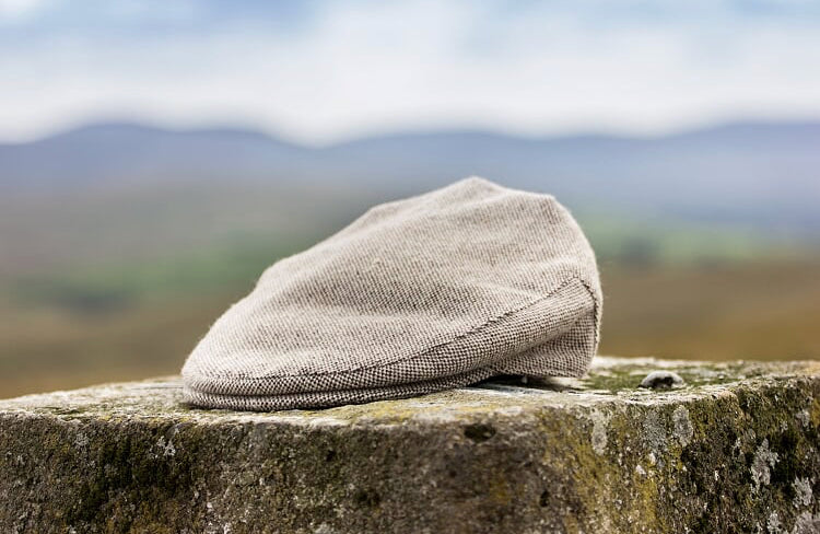 Oatmeal Traditional Tweed Flat Cap
