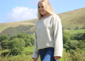 Cream Tweed Jumper