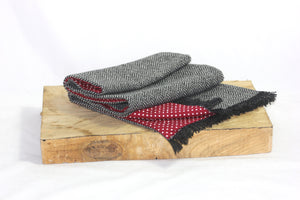 Dinefwr Scarf with Red Polka Dot