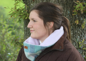 Green and Purple Neck Warmer