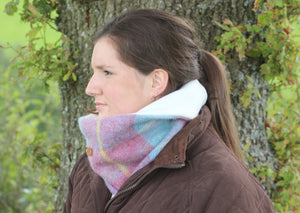 Pink and Blue Neck Warmer