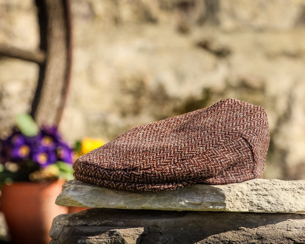 Child's Brown Herringbone Cap