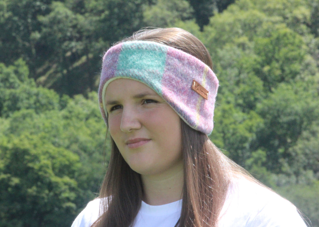 Pink and Green Pastel Headband