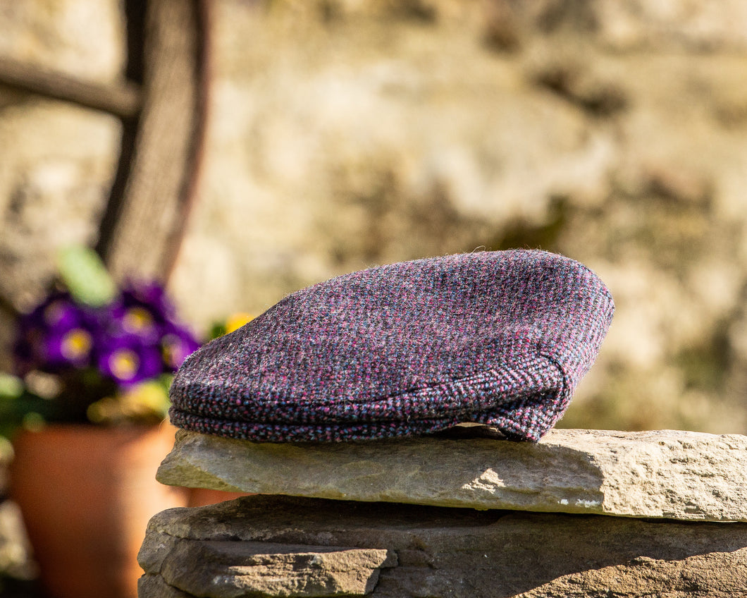 Child's Purple Herringbone Cap
