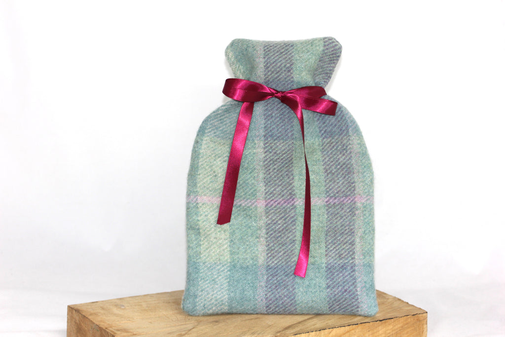 Green and Purple Hot Water Bottle