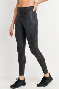 Elin Snake Foil Print High Waist Leggings