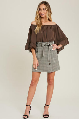 Meg Plaid Mini Skirt