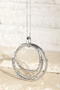 Berkley Stacked Ring Pendant Necklace