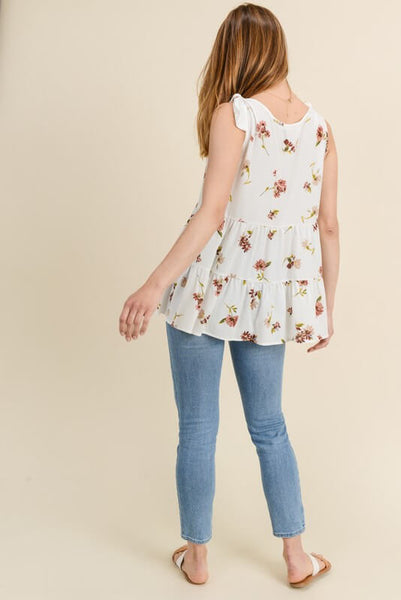 Mona Tiered Floral Print Top