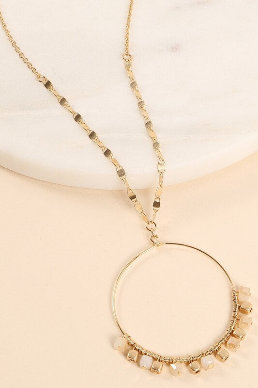 Hallie Round Pendant Necklace