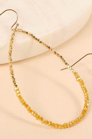 Novah Tear Drop Beaded Earrings
