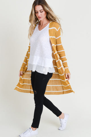 Tessa Ribbed Open Cardigan