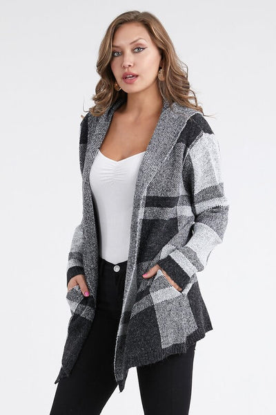 Rainey Hooded Open Front Cardigan