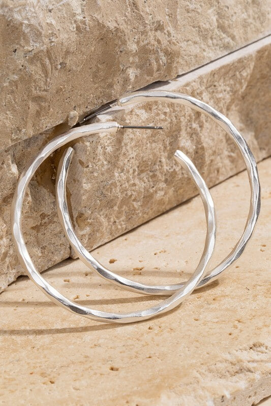 Hattie Hammered Hoop Earrings