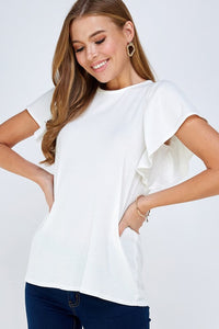 Brighton Flutter Sleeve Top