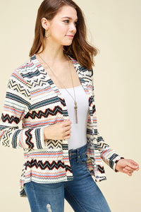 Jade Tribal Print Cardigan