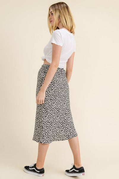 Kamryn Leopard Print Pencil Skirt