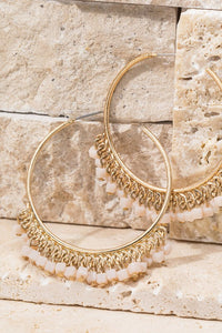 Darby Beaded Hoop Earrings