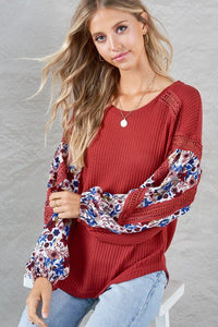 Adley Contrast Sleeve Top