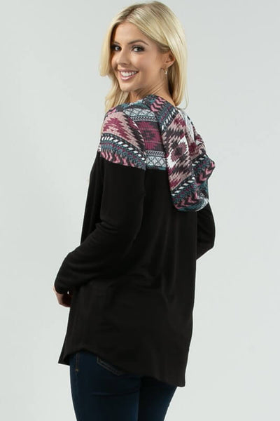 Luka Aztec Contrast Pullover