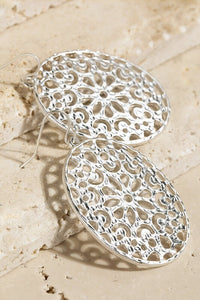Gianna Oval Filigree Earrings
