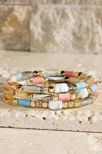 Elodie Triple Layer Stretch Bracelet