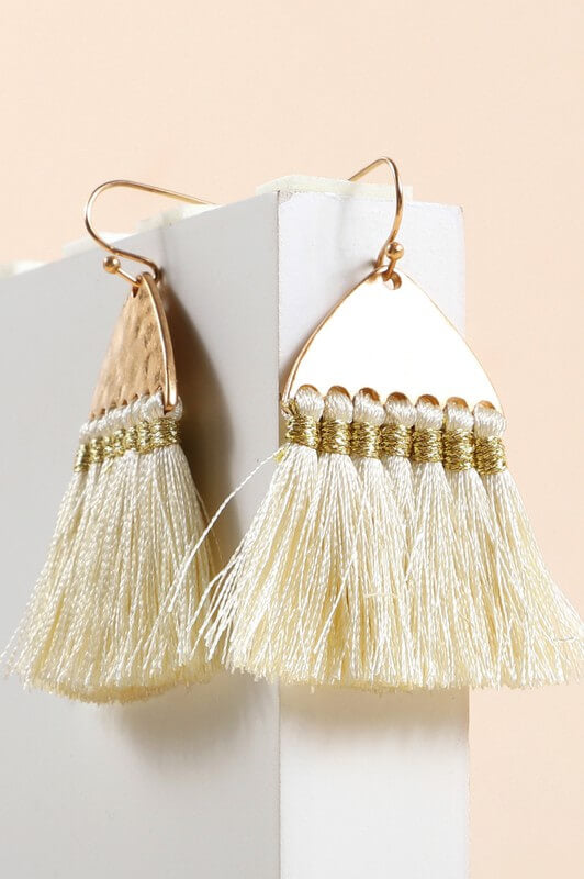Adelia Dangling Tassel Earrings