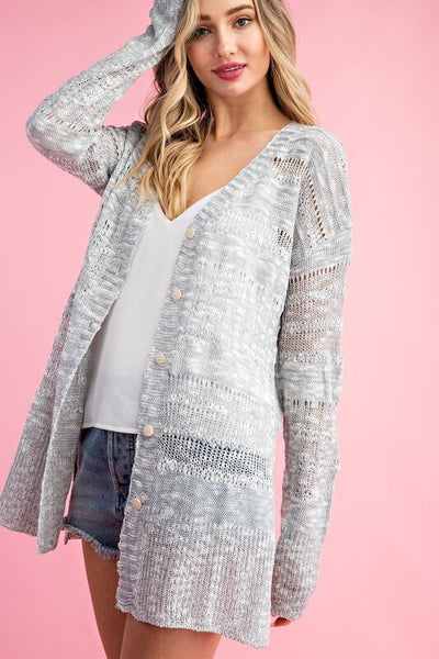 Alyx Open Knit Button Down Cardigan