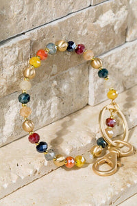 Desiree Glass Bead Key Keeper Bracelet
