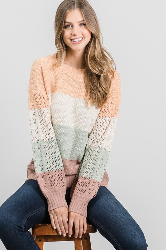 Helena Colorblock Sweater