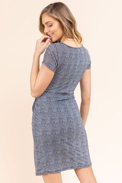 Flannery Front Twist Fitted Dress