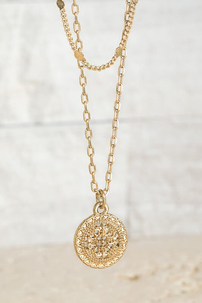Valerie Layered Filigree Charm Necklace