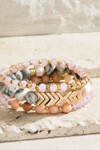 Callie Natural Stone Bracelet Set