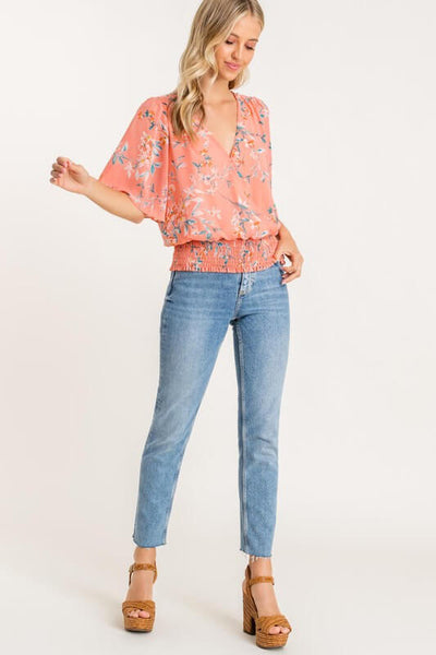 Piper Printed Surplice Top