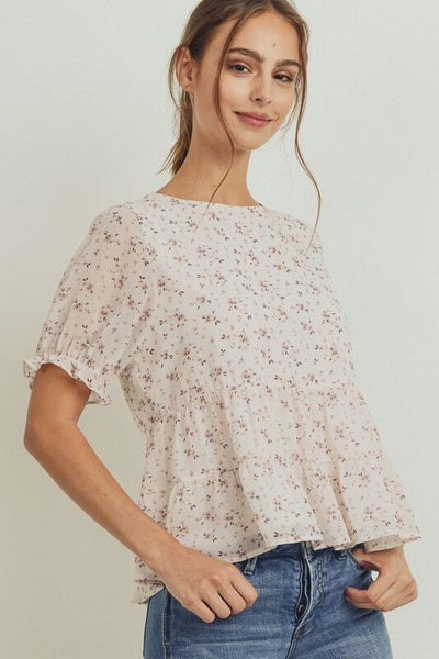 Kendall Peplum Tiered Top