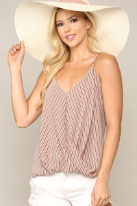 Carmen Candy Stripe Surplice Top