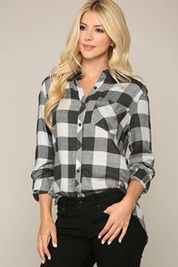 Elliott Buffalo Check Button Down Top