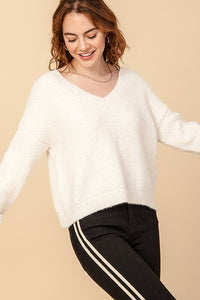 Aspen V-Neck Chenille Sweater